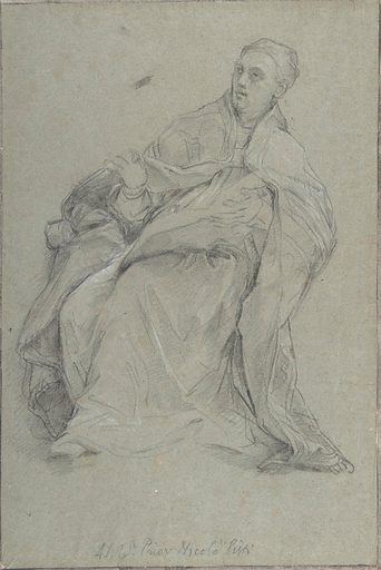 Study for a Seated Prelate (Saint Gregory the Great) (1685–86). Accession number: 1981.364.