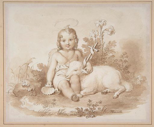 Seated John the Baptist with a Lamb in a Landscape (1787–1871). Accession number: 1979.480.2.