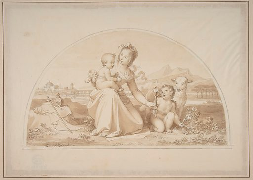 The Virgin and Child with the Infant John the Baptist and a Lamb in a Landscape (1787–1871). Accession number: 1979.480.1.