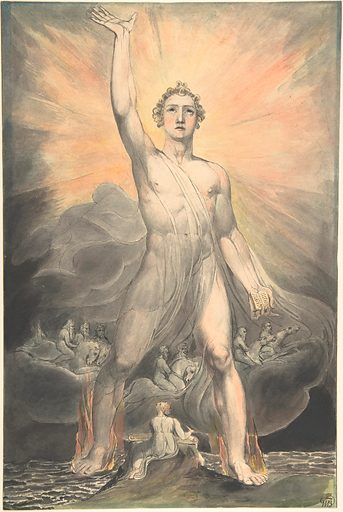Angel of the Revelation (Book of Revelation, chapter 10) (ca. 1803–5). Accession number: 14.81.1.