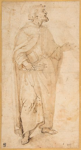 Standing Figure of Saint Peter Holding Book and Keys. (1536/7–1615). Accession number: 67.96.
