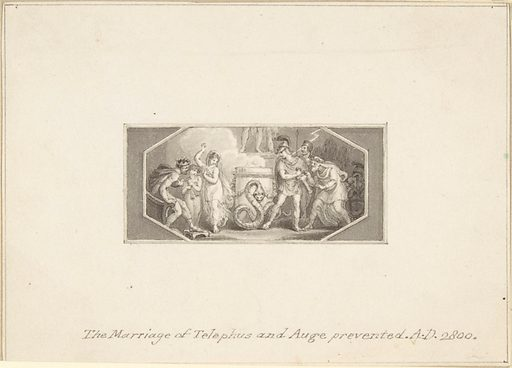 The Marriage of Telephus and Auge prevented (1790–1800). Accession number: 33.68.3.
