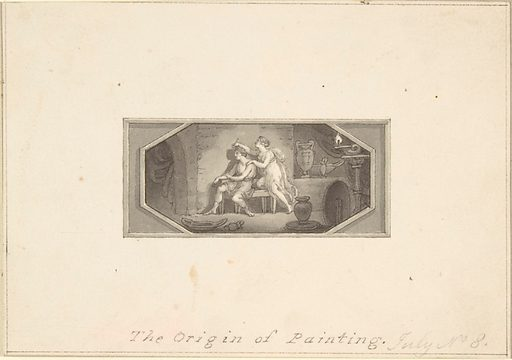 The Origin of Painting (1790–1800). Accession number: 33.69.19.