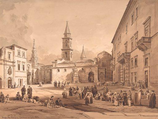 The Main Square in Andria (Bari) (1803–94). Accession number: 1988.177.