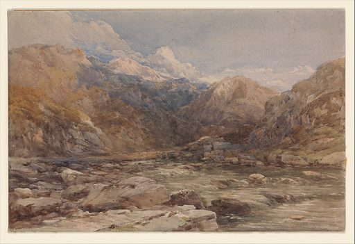 River Landscape in Wales (ca. 1850). Accession number: 61.168.1.