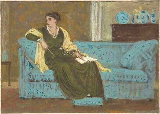 Woman Seated on a Sofa (1865–1915). Accession number: 1971.65.1.