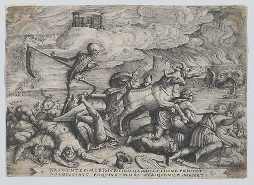The Triumph of Death on Time, from The Triumph of Petrarch. Accession number: 62.635.501a.