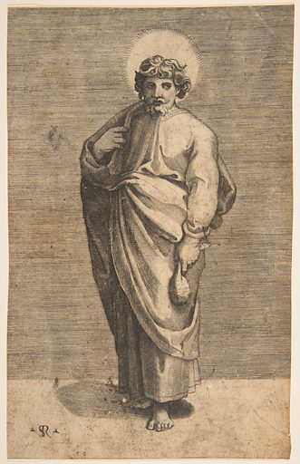 Saint Matthew holding a pouch (ca. 1515–27). Accession number: 53.601.12(42)M.