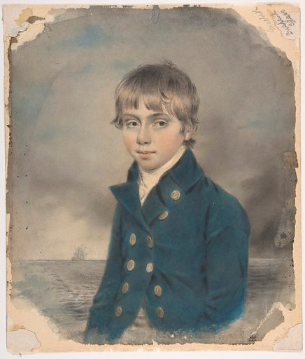 Memento Portrait of a Young Midshipman (late 18th–early 19th century). Accession number: 48.149.18.