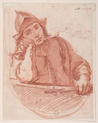 Soldier Resting his Head on his Elbow (18th century ?). Accession number: 80.3.510.