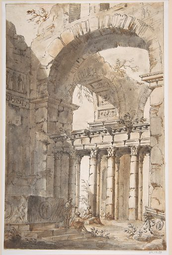 Ruins of a Basilica or Mausoleum (1691–1765). Accession number: 87.12.50.