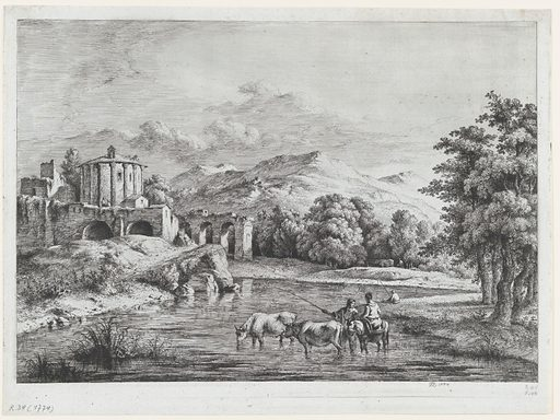 View of the Temple of Vesta (1774). Accession number: 2000.361.9.