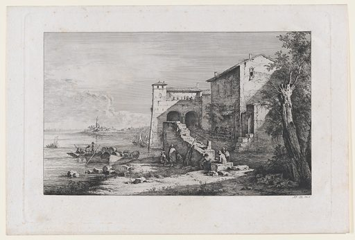 View of Old Customs House in Rome (1807). Accession number: 2000.361.33.