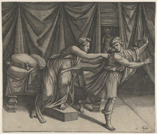 Joseph fleeing from Potiphar