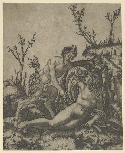 Satyr and Nymph (ca 1500–1534). Accession number: 29.44.2.