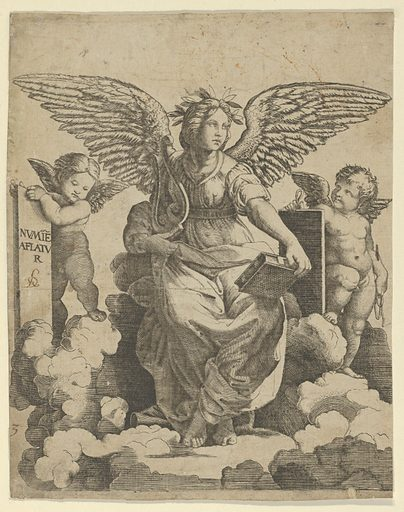 Poetry personified as a winged woman (ca. 1515–50). Accession number: 17.50.16-17.