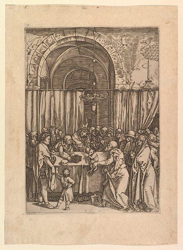 High priest refusing sacrificial lamb from Joachim, after Dürer (ca. 1500–1534). Accession number: 17.3.3312.