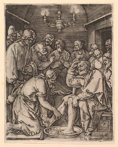 Christ kneeling and washing St Peter's feet, after Dürer (ca. 1500–1534). Accession number: 17.37.244.