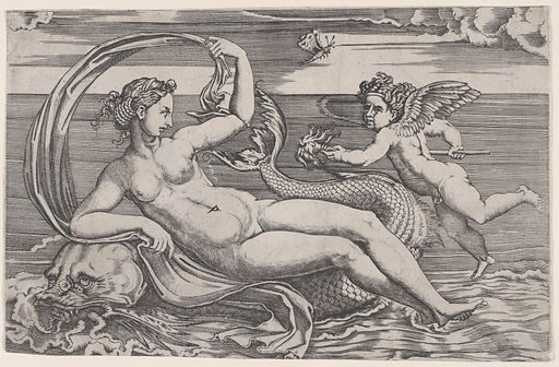 Venus Reclining on a Dolphin (ca. 1516). Accession number: 49.97.81.