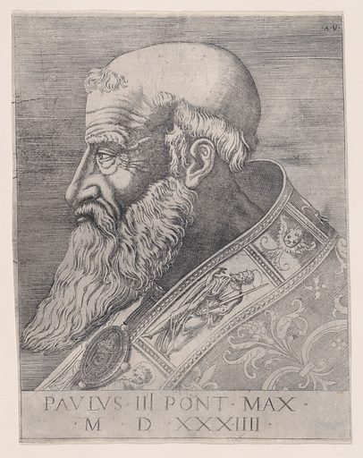 Pope Paul III, Bareheaded (dated 1534). Accession number: 49.97.178.