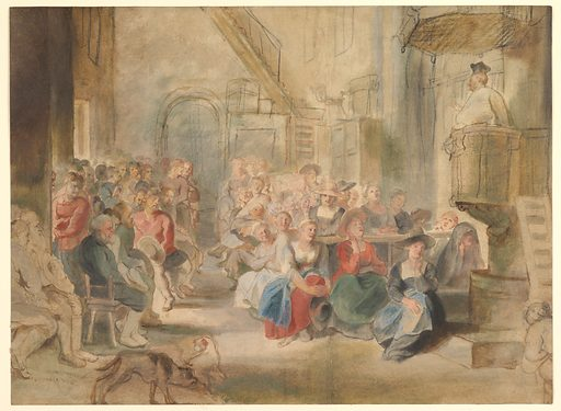 A Sermon in a Village Church (ca. 1630). Accession number: 2000.483.