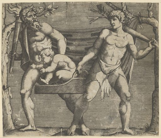 Two Fauns Carrying a Child (ca. 1500–1600). Accession number: 17.50.16-110.