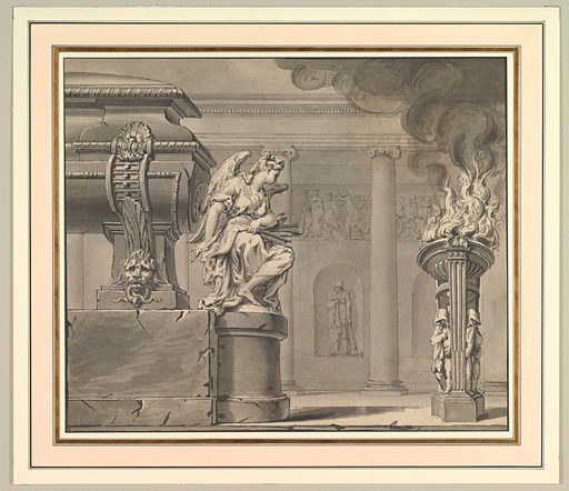 Classical Scene with a Tomb and Flaming Brazier (ca. 1700–1710). Accession number: 68.773.4.