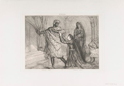 """""""Away!"""": plate 7 from Othello (Act 3, Scene 4) (etched 1844, reprinted 1900). Accession number: 32.7.9."""