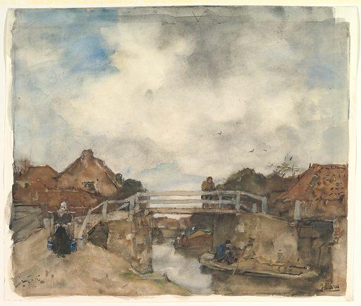 Dutch Canal, Rijswijk (second half 19th century). Accession number: 95.24.
