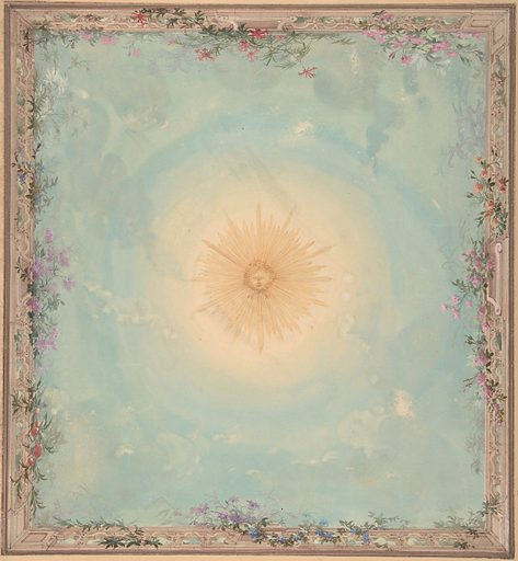 Designs for Ceilings with Central Sunburst (19th century). Accession number: 69.660.10.