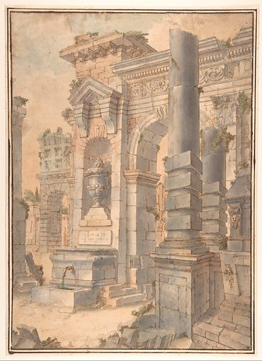 Design for a Painted Wall Decoration (1800–1830). Accession number: 67.843.