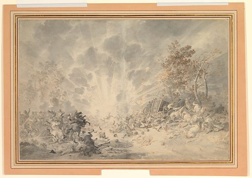 A Military Convoy Surprised by an Explosion (ca. 1790–1800). Accession number: 2000.638.