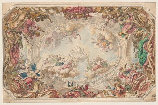 Design for a Ceiling (ca. 1712). Accession number: 1971.513.48.
