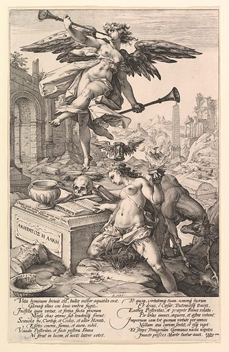 Fame and History, from the series The Roman Heroes (1586). Accession number: 49.97.696.
