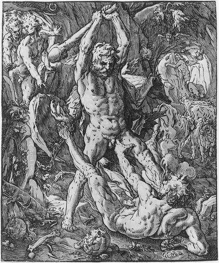 Hercules and Cacus (1588). Accession number: 51.501.4440.
