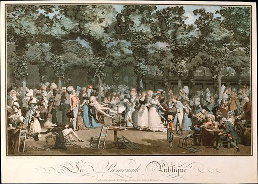 The Public Promenade (1792). Accession number: 61.531.