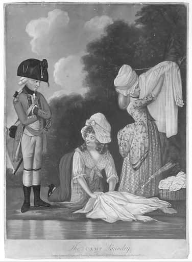 The Camp Laundry (February 14, 1782). Accession number: 1971.600.20.