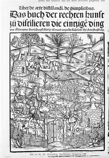 Medicinarius. Das buch der Gesundheit. Liber de arte distillandi Simplicia et Composita (1505). Printed Strassburg, 1 April 1505, Germany. Accession number: 44.7.46.