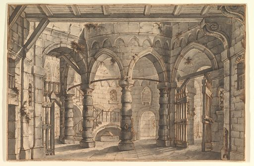 Design for a Stage Set (1700–1765). Accession number: 1971.513.64.