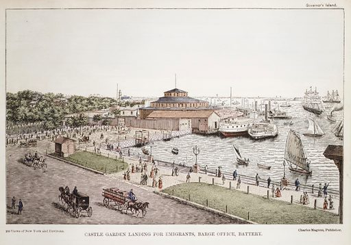 Castle Garden Landing for Emigrants, Barge Office, Battery (1850–1900). Accession number: 54.90.1293.