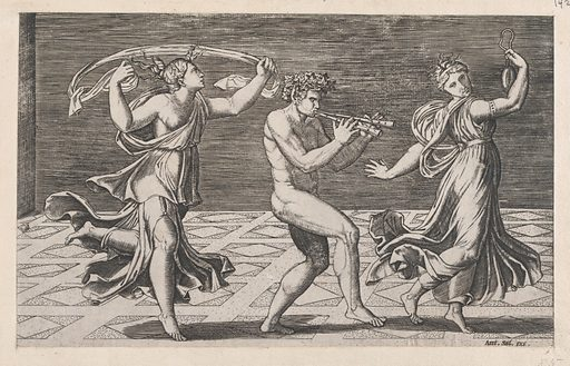 Speculum Romanae Magnificentiae: Dance of Fauns and Bacchants (early 16th century). Accession number: 41.72(2.142).