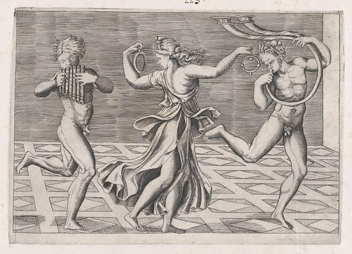 Speculum Romanae Magnificentiae: Dance of Fauns and Bacchants (early 16th century). Accession number: 41.72(2.139).
