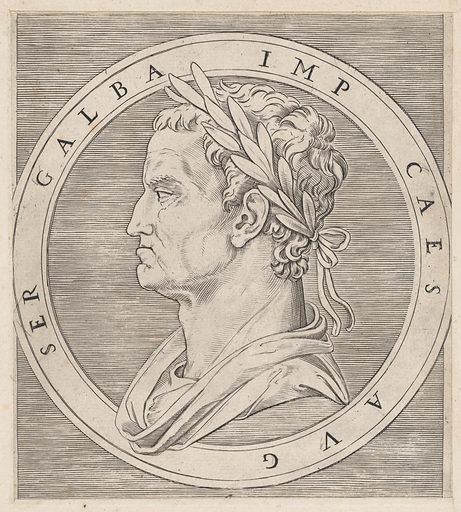 Speculum Romanae Magnificentiae: Galba, from The Twelve Caesars (ca. 1500–1534). Accession number: 41.72(3.88).