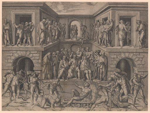 The Martyrdom of Saint Lawrence, after Bandinelli (ca. 1520). Accession number: 17.3.3496.