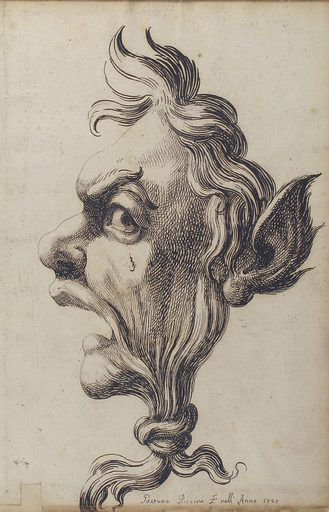 Large Grotesque Head Being Strangled by its Own Hair (1727). Accession number: 60.541.10.