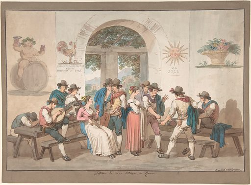 Interior of a Roman Inn, 1817. (1817). Accession number: 56.541.2.