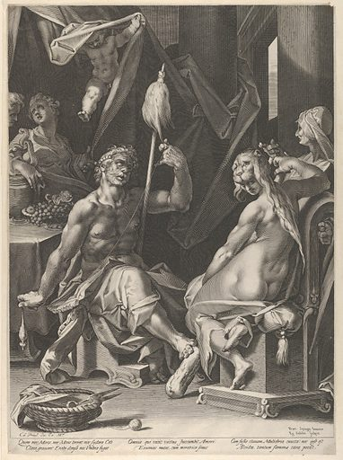 Hercules and Omphale (ca. 1600). Accession number: 53.601.10(90).