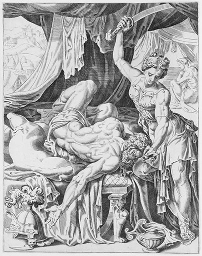 Judith Slaying Holofernes, from The Power of Women, plate 5 (1551). Accession number: 66.602.17.