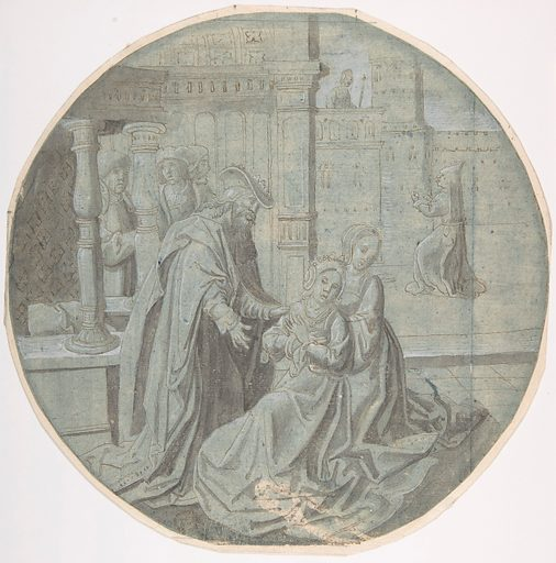 Queen Esther hears of the Decree against the Jews. (16th–mid 16th century ?). Accession number: 80.3.438.