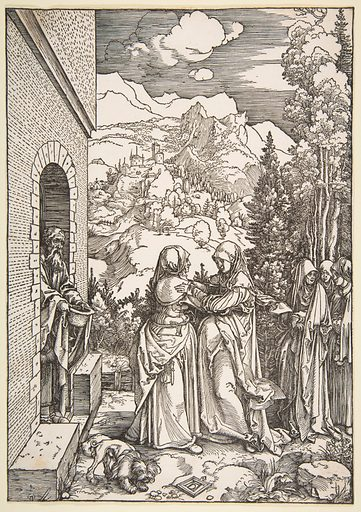 The Visitation, from The Life of the Virgin (1503–4). Accession number: 18.65.15.